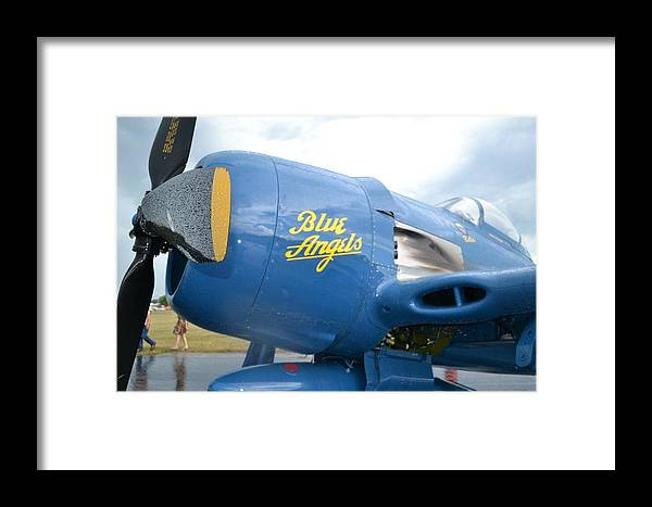 Blue Angels Framed Print featuring the photograph Old School Angel by Lee Gray
