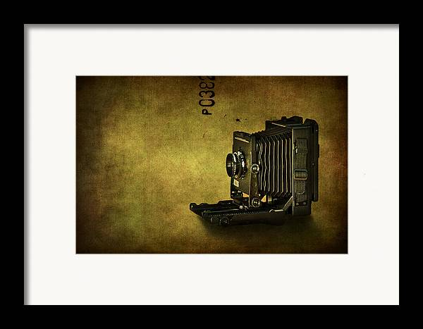 Camera Framed Print featuring the photograph Old School by Evelina Kremsdorf