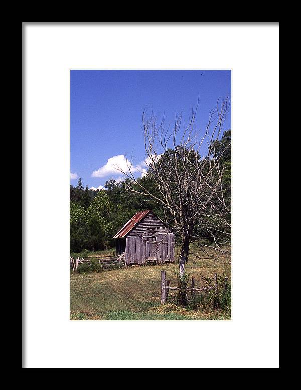 Framed Print featuring the photograph Old Shack by Curtis J Neeley Jr
