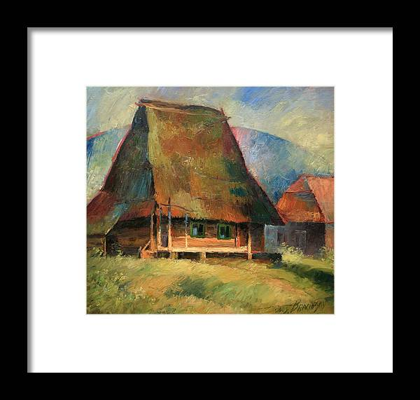 Old Small House Framed Print featuring the painting Old Small House by Arthur Braginsky