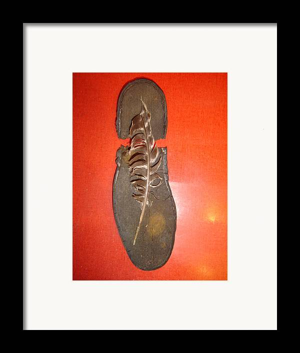 Still Life Framed Print featuring the photograph Old Sole by Dean Corbin