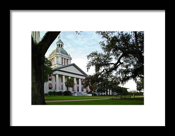 Color Photograph Framed Print featuring the photograph Old State Capitol by Wayne Denmark