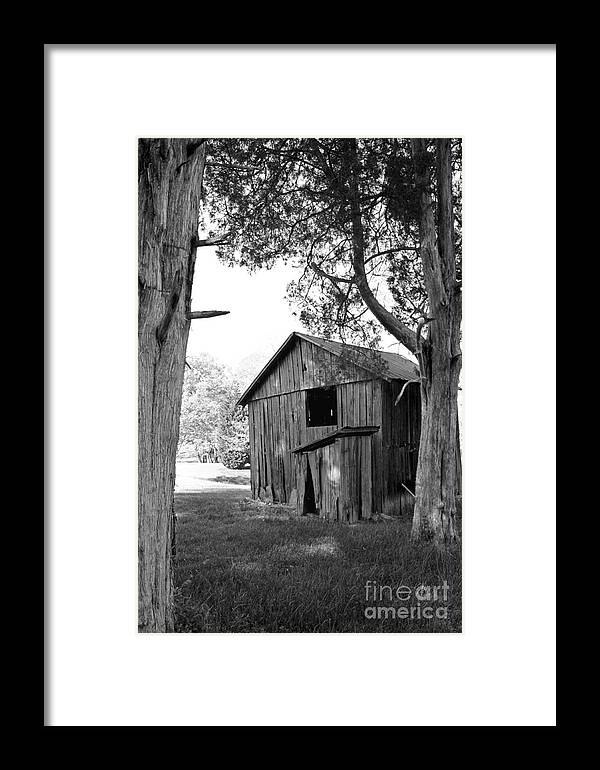 Landscape Framed Print featuring the photograph Old Structures by Todd Blanchard
