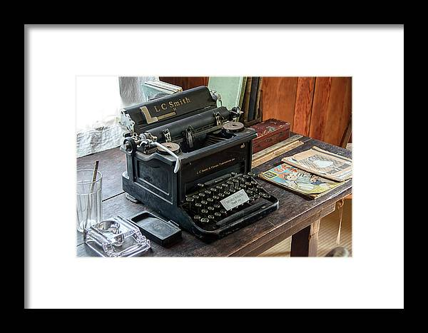 Typewriter Framed Print featuring the photograph Old Style Texting by David Lawson