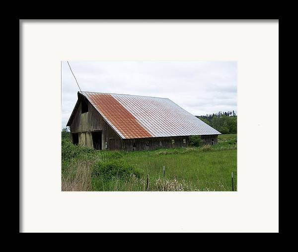 Barn Framed Print featuring the photograph Old Tin Roof Barn Washington State by Laurie Kidd
