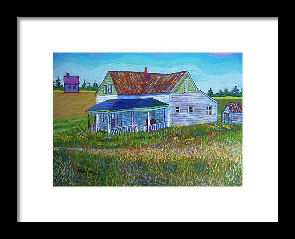 Tinroof Framed Print featuring the pastel Old Tin Roof by Rae Smith