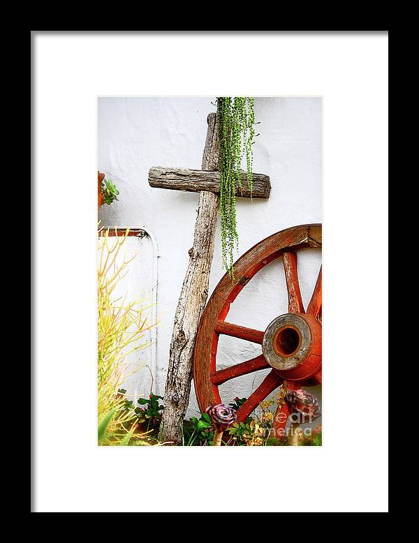 Cross Framed Print featuring the photograph Old Town San Diego by Lori Leigh