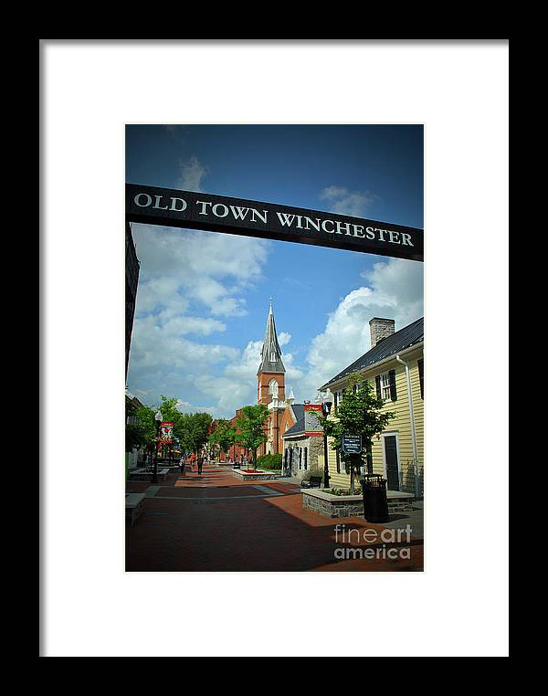 Winchester Framed Print featuring the photograph Old Town Winchester by Jost Houk