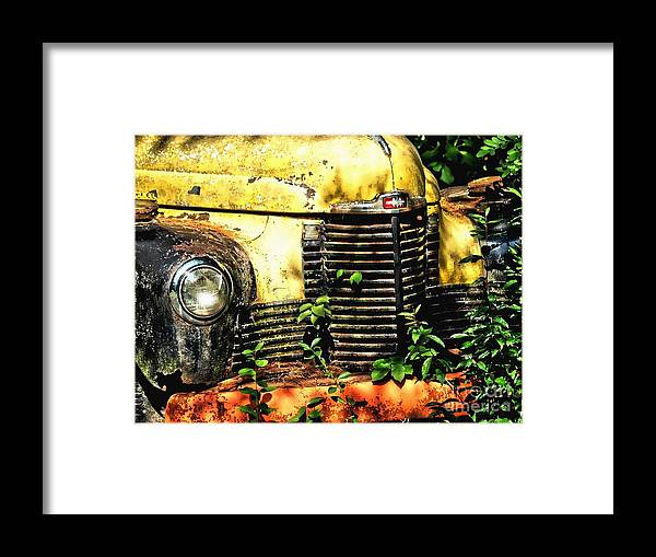 Framed Print featuring the photograph Old Transportation by Kathy Jennings