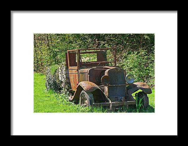 Old Truck Framed Print featuring the photograph Old Truck II C1002 by Mary Gaines