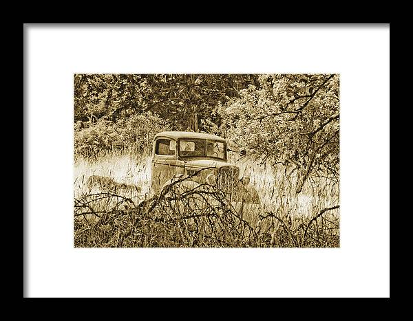 Vintage Framed Print featuring the photograph Old Truck by Linda McRae