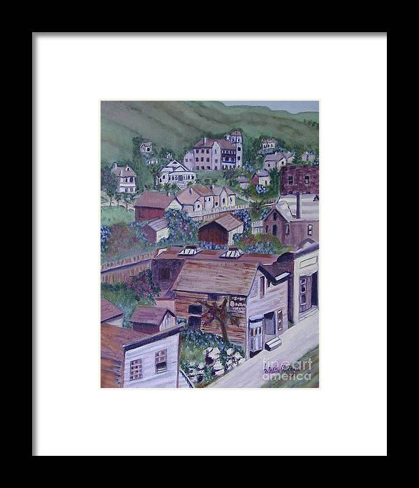 Ventura Framed Print featuring the painting Old Ventura by Laurie Morgan