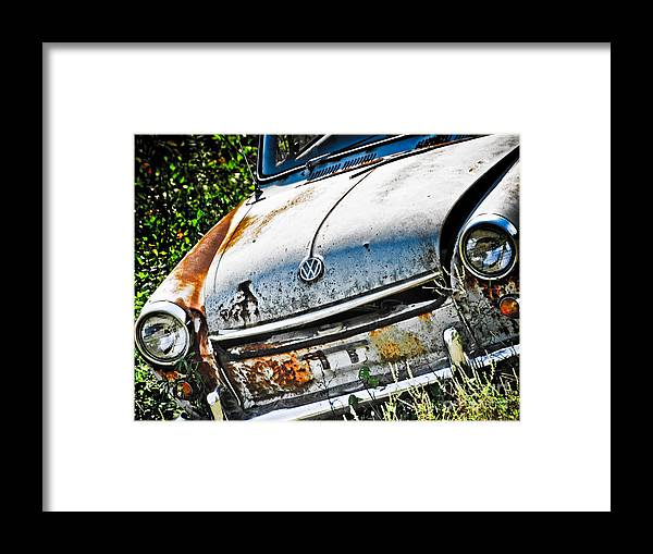Framed Print featuring the photograph Old Vw by Kathy Jennings