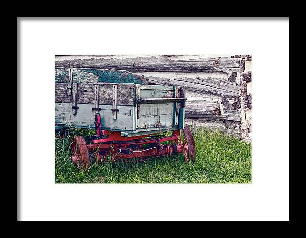 Wagon Framed Print featuring the photograph Old Wagon Outside Belgian Farm by Nikki Vig