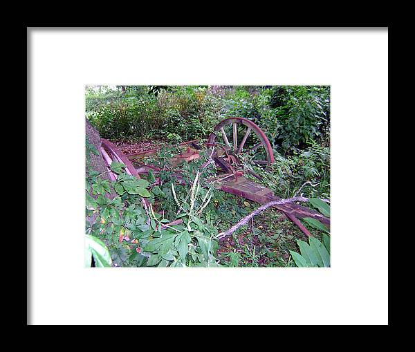 Old Framed Print featuring the photograph Old Wagon Wheels 2 by George Jones