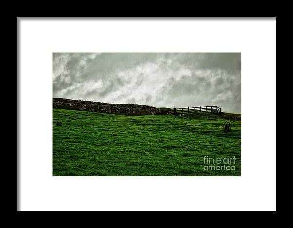 Northumberland Framed Print featuring the photograph Old Wall, New Gate by John Kenealy