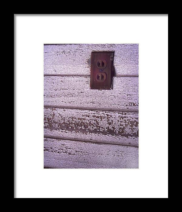 Cn_fo Framed Print featuring the photograph Old Wall Outlet by Curtis J Neeley Jr
