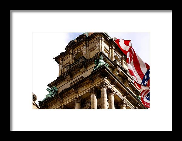 Architecture Framed Print featuring the photograph Old Wayne County Building by Sonja Anderson