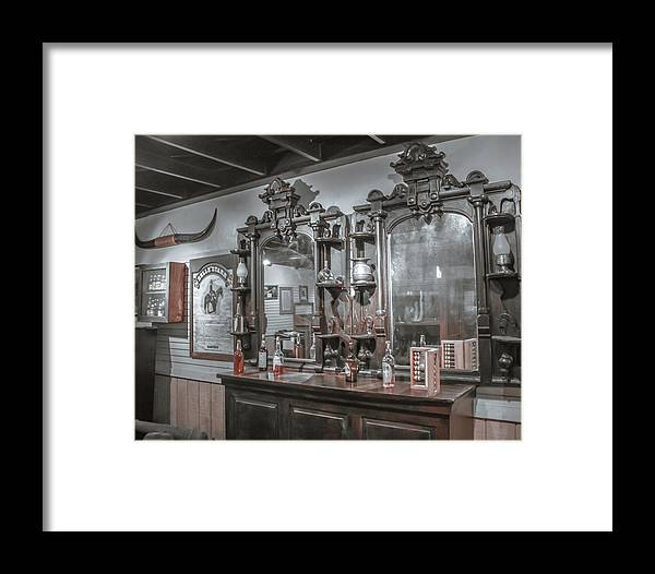 Western Framed Print featuring the photograph Old West Saloon by Darrell Foster