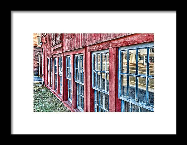Collinsville Ct Framed Print featuring the photograph Old Windows by Edward Sobuta