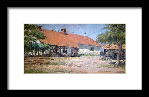 Old World Farmhouse Framed Print featuring the mixed media Old World Slovenian Farmhouse by Sherri's - Of Palm Springs