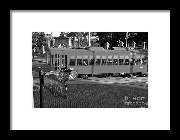 Ybor City Florida Framed Print featuring the photograph Old Ybor City Trolley by David Lee Thompson