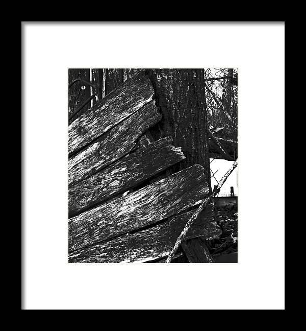 Framed Print featuring the photograph OldDoorNextDoor16-18 by Curtis J Neeley Jr