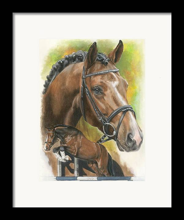 Horse Framed Print featuring the mixed media Oldenberg by Barbara Keith