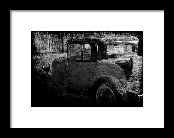 Old Cars Framed Print featuring the photograph Oldie 1 Bw by Ernie Echols