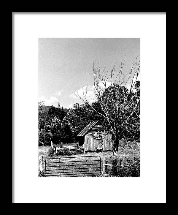 Framed Print featuring the photograph Oldshack by Curtis J Neeley Jr