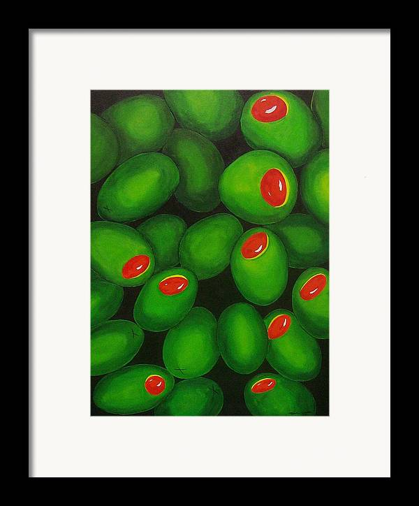 Olive Framed Print featuring the painting Olives by Micah Guenther
