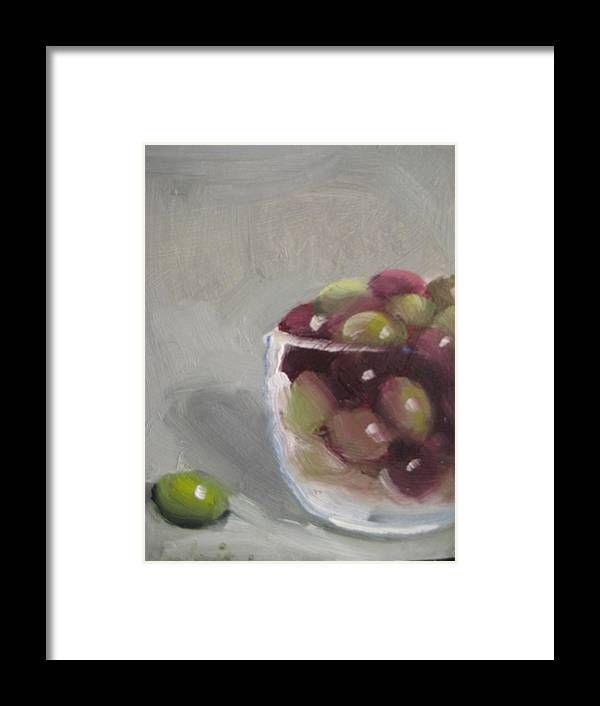 Still Life Framed Print featuring the painting Olives by Susan Jenkins