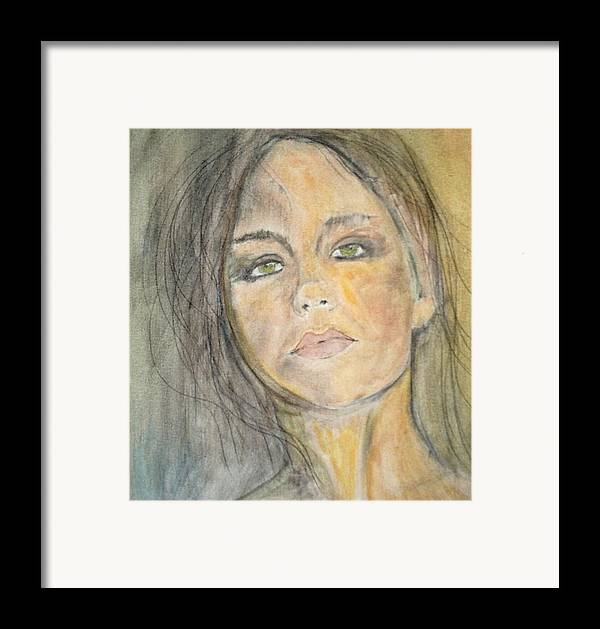 Portrait Framed Print featuring the painting Olivia by J Bauer