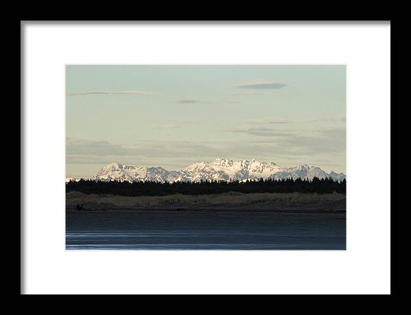 Olympic Mountains Framed Print featuring the photograph Olympic Mountains by Cheryl Day