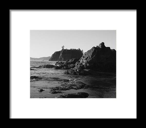 Sand Cliffs Framed Print featuring the photograph Olympic Peninsula by Sonja Anderson