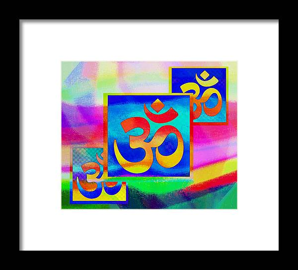 Religious Framed Print featuring the mixed media Om 24 by Dorothy Berry-Lound
