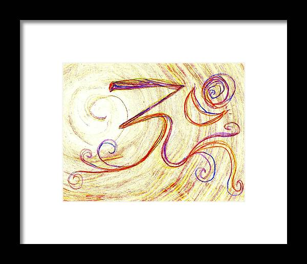 Om Framed Print featuring the painting Om by Chandelle Hazen