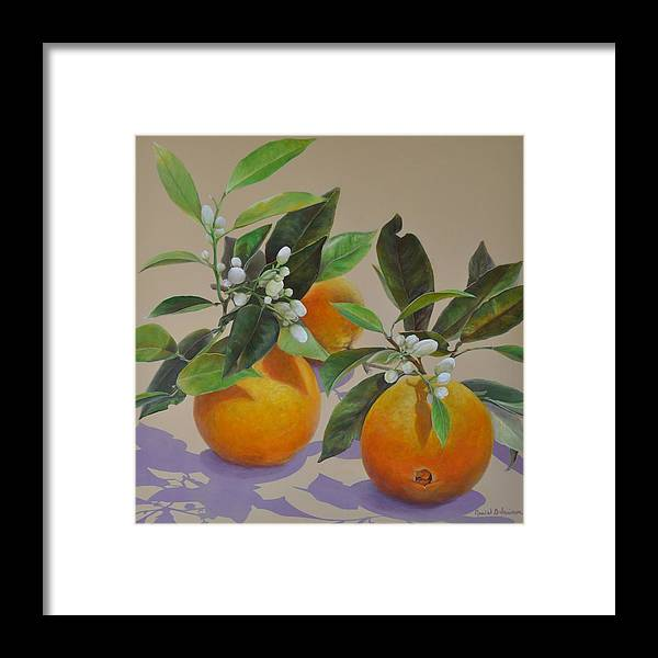 Acrylic Painting Framed Print featuring the painting Ombres Fleuries by Muriel Dolemieux