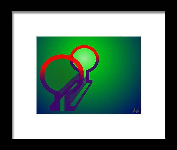 Omega Framed Print featuring the digital art Omega Xfers by Helmut Rottler