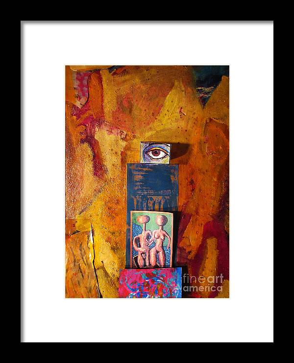 Abstract Framed Print featuring the painting Omni Vision Union by Jeff Birr