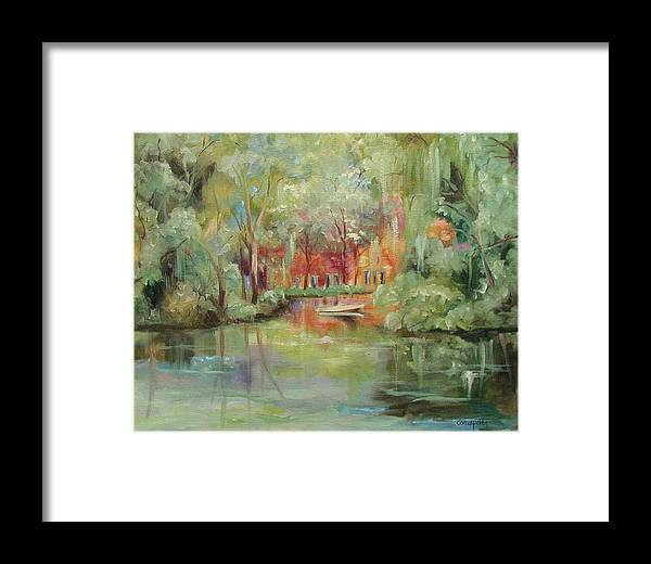 Bayou Framed Print featuring the painting On A Bayou by Ginger Concepcion