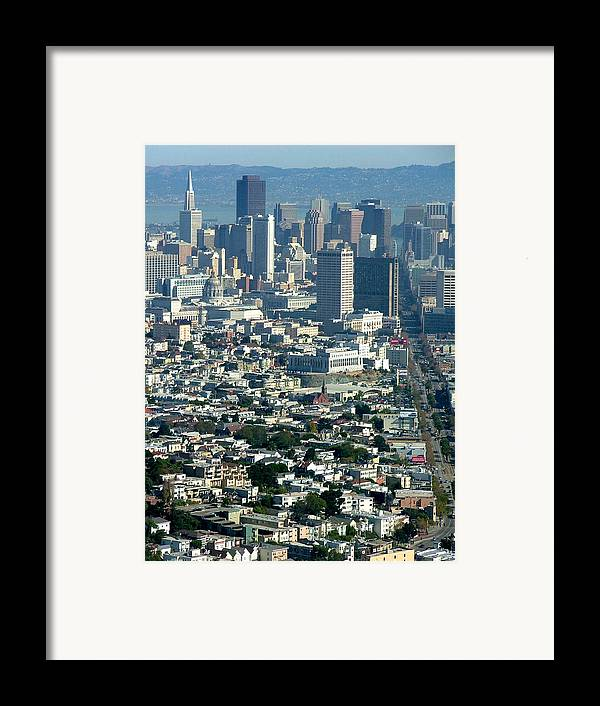 City Scape Framed Print featuring the photograph On A Clear Day You Can See Forever by Donna Thomas