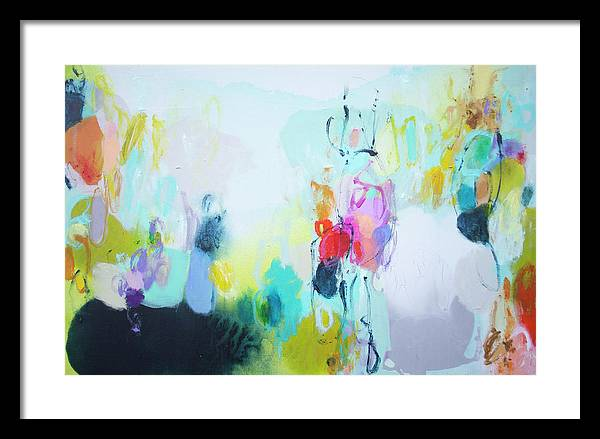 Abstract Framed Print featuring the painting On A Road Less Travelled by Claire Desjardins