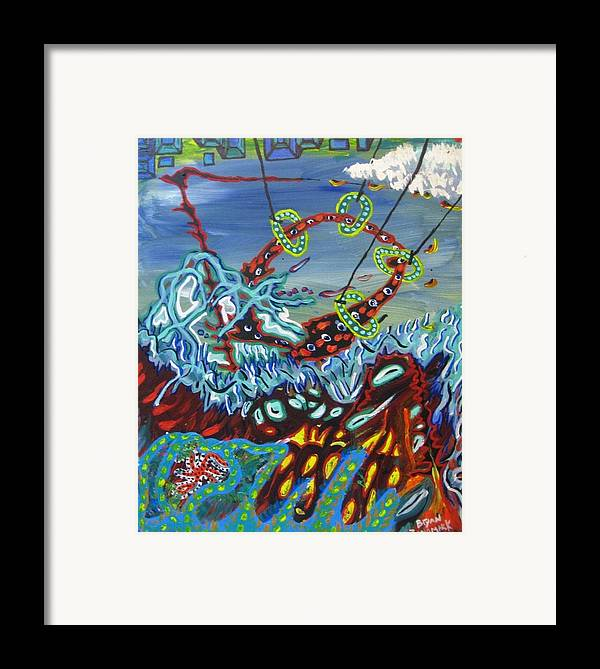 Paintings Framed Print featuring the painting On Another Planet by Bryan Zingmark