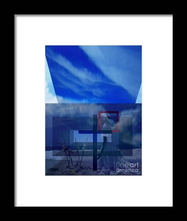 Inspirational Framed Print featuring the digital art On Bended Knees by Brenda L Spencer