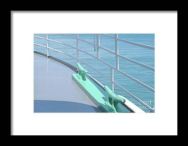 Deck Framed Print featuring the photograph On Deck by Ann Horn