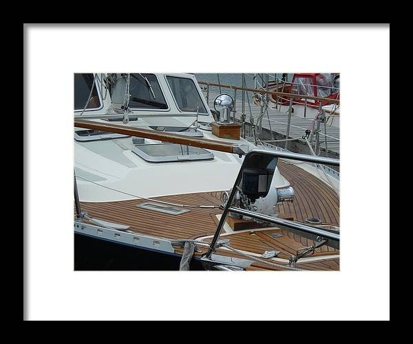 Boats Framed Print featuring the photograph On Deck by Peter Mowry