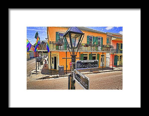 Street Sign Framed Print featuring the photograph On Dumaine Street by Anthony Walker Sr