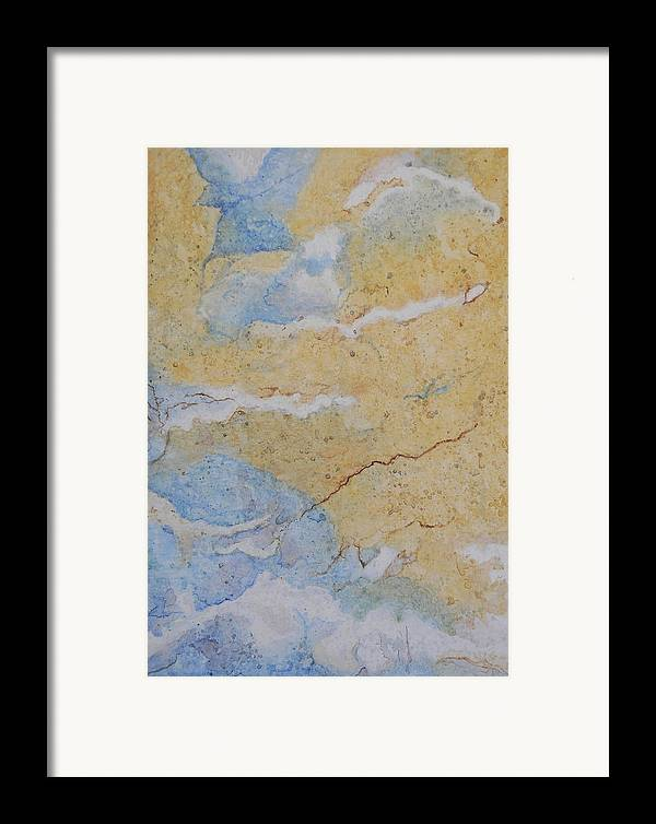 Abstract Framed Print featuring the painting On Earth As In Heaven by Craig Gallaway