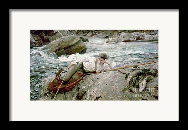 On His Holidays Framed Print featuring the painting On His Holidays by John Singer Sargent